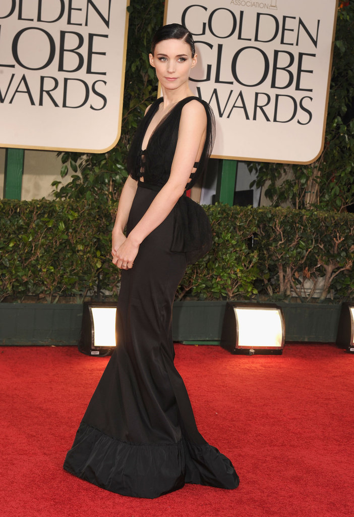 Rooney Mara at the 2012 Golden Globe Awards.