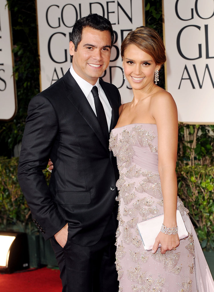 Jessica Alba and Cash Warren at the Golden Globes.