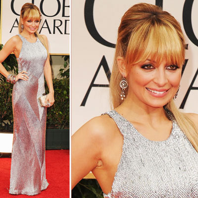 Nicole Richie Wears Julien Macdonald, House of Harlow and Jimmy Choo to the 2012 Golden Globes