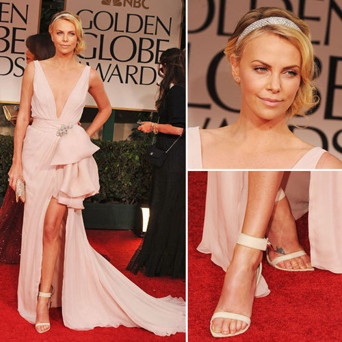 Charlize Theron at Golden Globes 2012