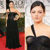 Mila Kunis at Golden Globes 2012