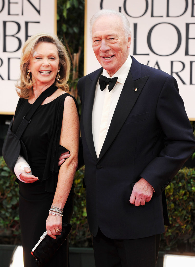 Nominee Christopher Plummer and his wife of over 40 years, Elaine Taylor, arrive at the Golden Globes.