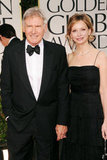 Harrison Ford and Calista Flockhart arrive.