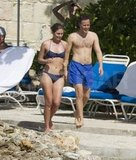 Lauren Bush Lauren wore a bikini for a Jamaican stroll with shirtless husband David Lauren.