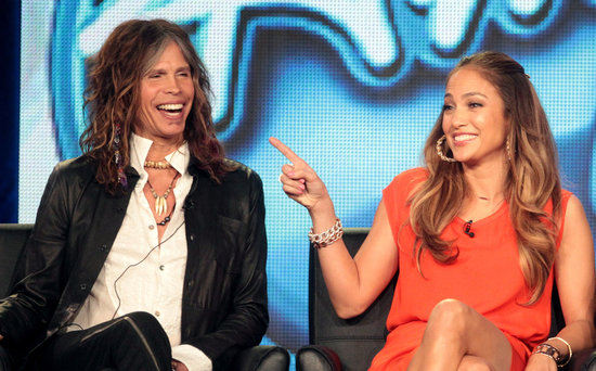 Steven Tyler and J Lo at American Idol panel during 2012 TCAs.