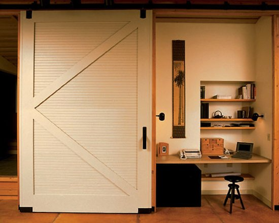 Barn doors for the home popsugar home for Barn doors for home office