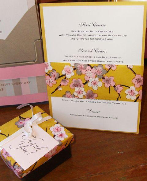 Jodi Lynn 39 S Blog Blue DIY Wedding Menu Cards DIY Wedding Menu Cards I 39