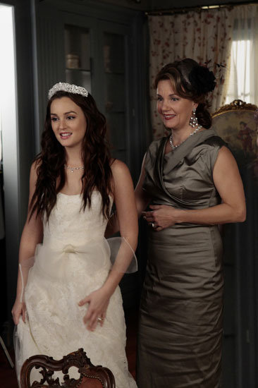 Leighton Meester as Blair Waldorf, Margaret Colin as Eleanor on Gossip Girl.  Photo courtesy of The CW