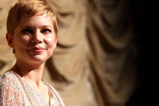 Michelle Williams took questions after a screening of My Week With Marilyn.