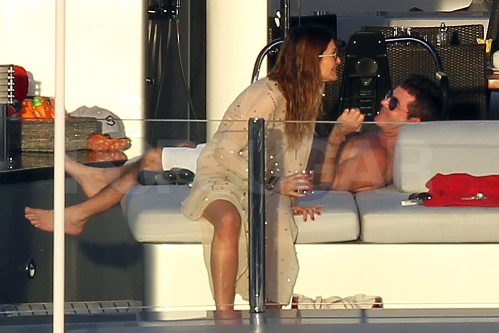 Simon Cowell shirtless in St. Barts.