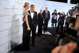 George Clooney and Stacy Keibler Go Black Tie For a Glamorous Gala
