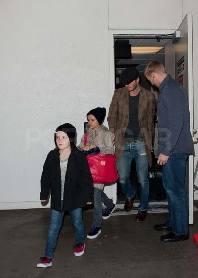 David Beckham and His Three Boys Return Home to LA