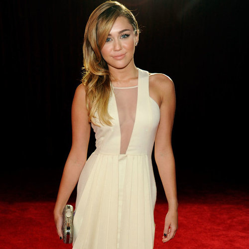 Miley Cyrus in Sexy Sheer Insert David Koma Dress at the 2012 People's Choice Awards: So elegant!