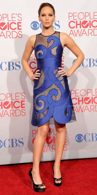 Jennifer Lawrence in Viktor & Rolf at People's Choice Awards