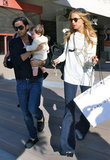 Rachel Zoe held a Marc Jacobs bag, giving Joey Maalouf quality time with baby Skyler.