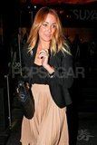 Lauren Conrad headed home after dinner.