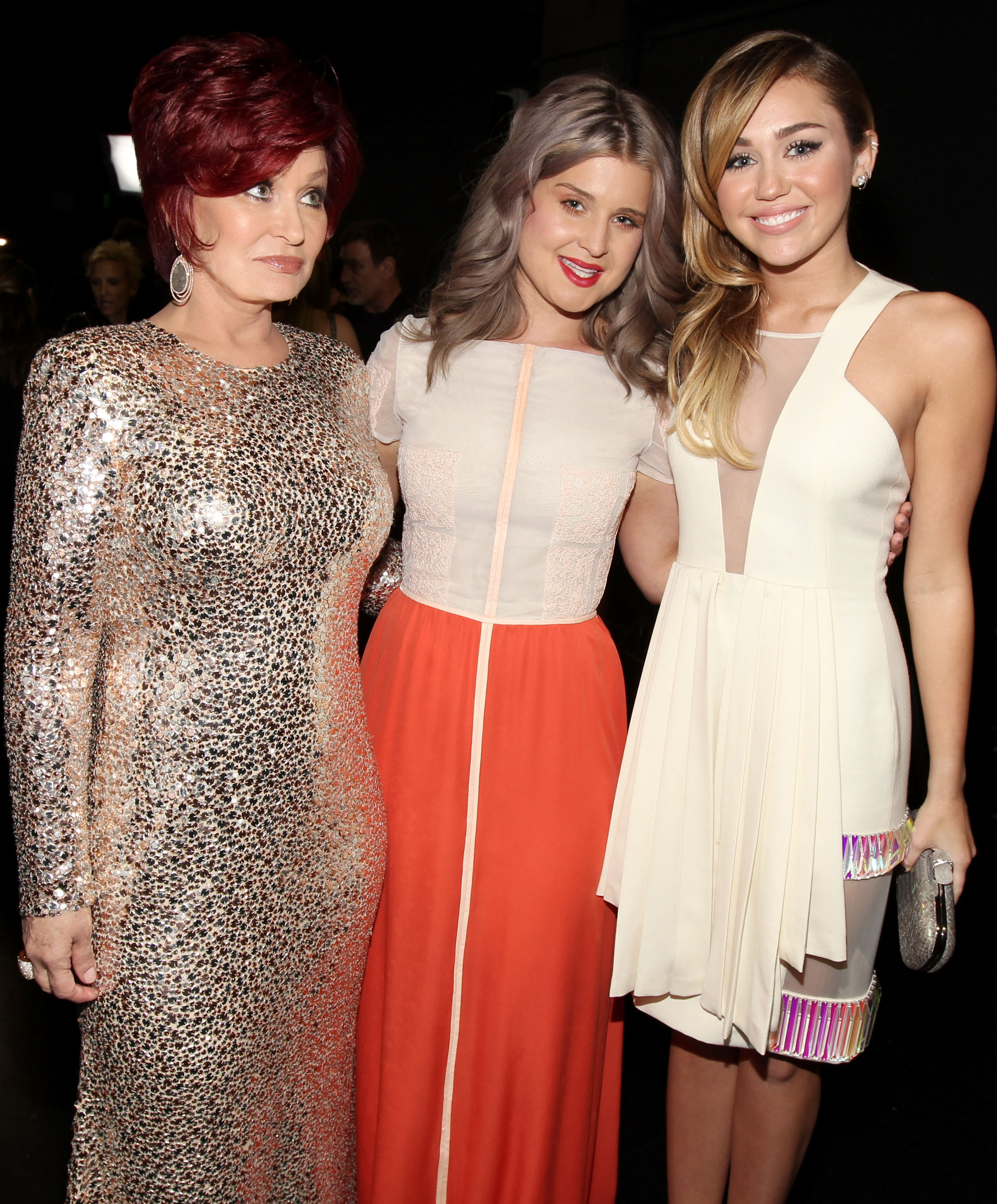 Sharon, Kelly, and Miley