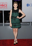 Chloë Moretz arrived in a textured green dress.