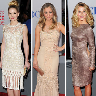 Pictures of Celebrities, Colour Trends and Red Carpet Arrivals at the 2012 People's Choice Awards