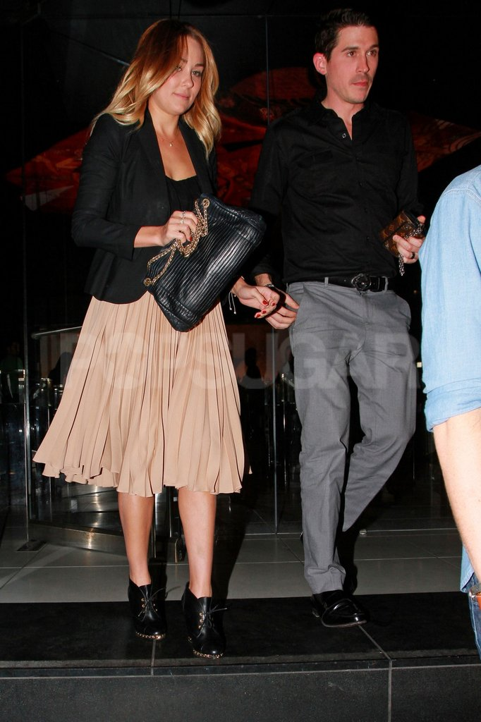 Lauren Conrad left dinner with a friend in LA.