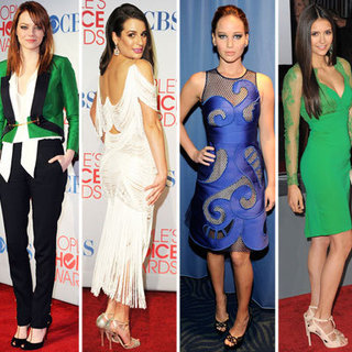 Vote on the Best Dressed Celebrity from the 2012 People's Choice Awards Nina Dobrev, Lea Michele, Emma Stone & More!