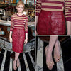 Michelle Williams Jason Wu Red Leather Skirt