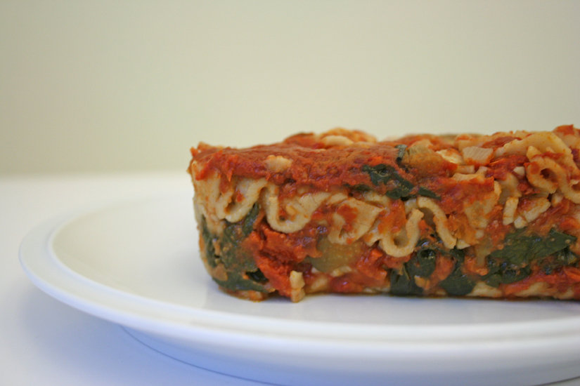 Eggplant and Kale Lasagna