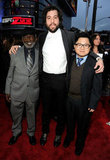 The men of 2 Broke Girls, Garrett Morris, Jonathan Kite, and Matthew Moy, band together at the award show.