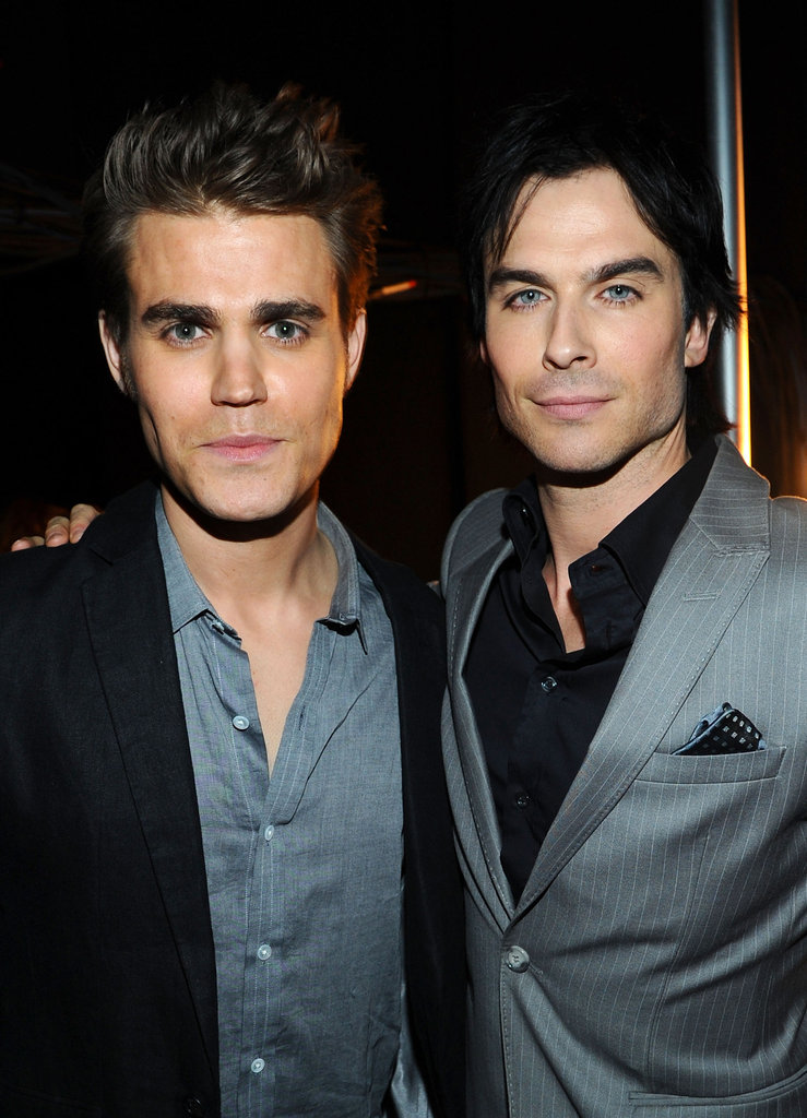 The hot vamps of Vampire Diaries Ian Somerhalder and Paul Wesley look too cute together.