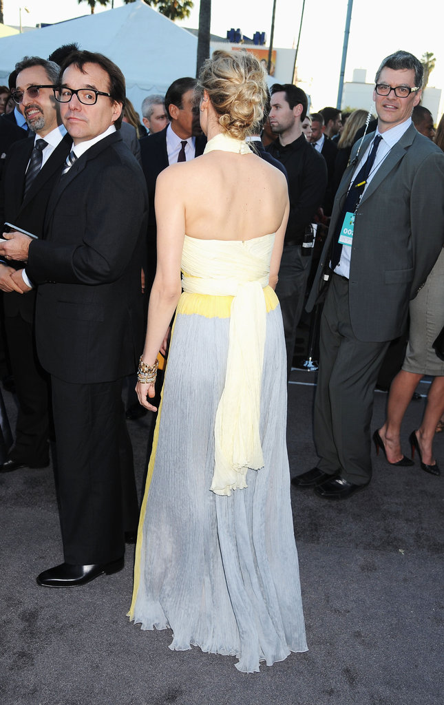 The back of Diane Kruger's Prada dress.