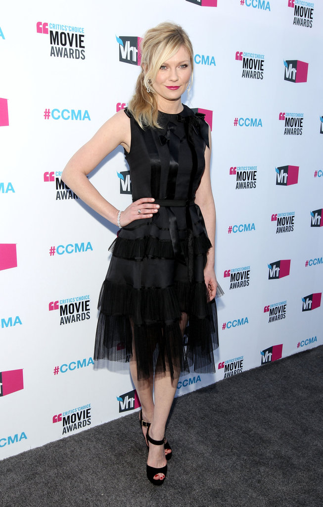 Kirsten Dunst hit the grey carpet at the Critics' Choice Movie Awards.