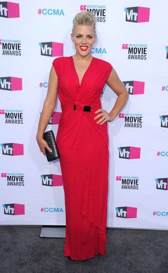 Busy Philipps in a pink gown at the Critics' Choice Awards.