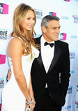 George Clooney put his arm around Stacy Keibler at the Critics' Choice Movie Awards.