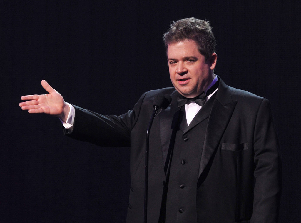 Patton Oswalt got on stage for the 2012 Critics' Choice Movie Awards.