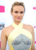 Diane Kruger wore gray and yellow in LA.