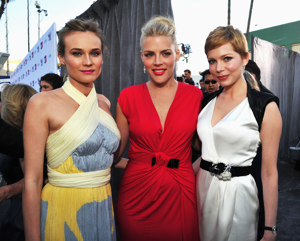 Diane Kruger and Busy Philipps were together in LA at the Critics' Choice Awards with Michelle Williams, who was in Chanel.