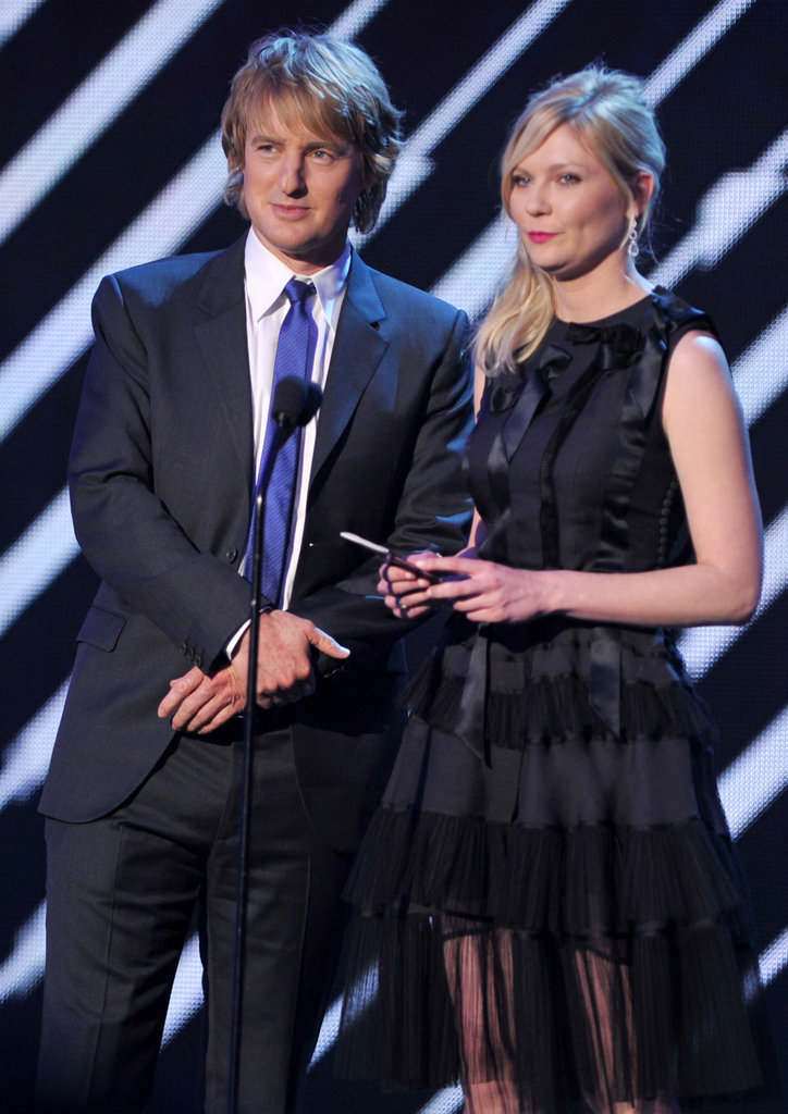 Owen Wilson and Kirsten Dunst were presenters at the 2012 Critics' Choice Movie Awards.