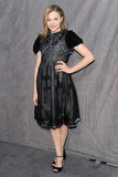 Chloe Moretz wore a sheer black dress in the Critics' Choice Movie Awards.