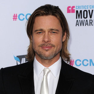 Brad Pitt in a White Tie at Critics' Choice Awards Pictures