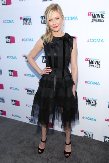 Kirsten Dunst was flirty in Dior at the Critics' Choice Movie Awards.