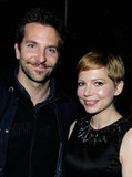 Bradley Cooper and Michelle Williams spent some time together at a party hosted by the Weinstein Company and Audi.