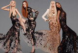 Supermodel alert! Naomi Campbell and Karen Elson model dazzling lace confections from Roberto Cavalli's Spring '12 collection. Source: Fashion Gone Rogue