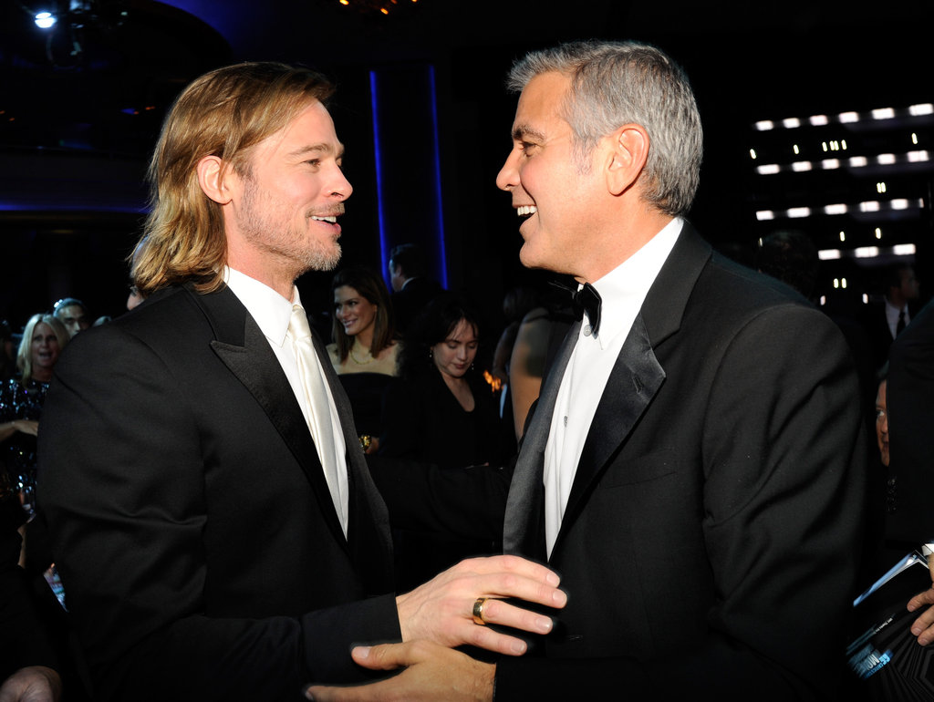 The Best George Clooney and Brad Pitt Bromantic Moments From the Critics' Choice Awards