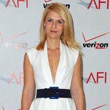 Claire Danes in a white dress.