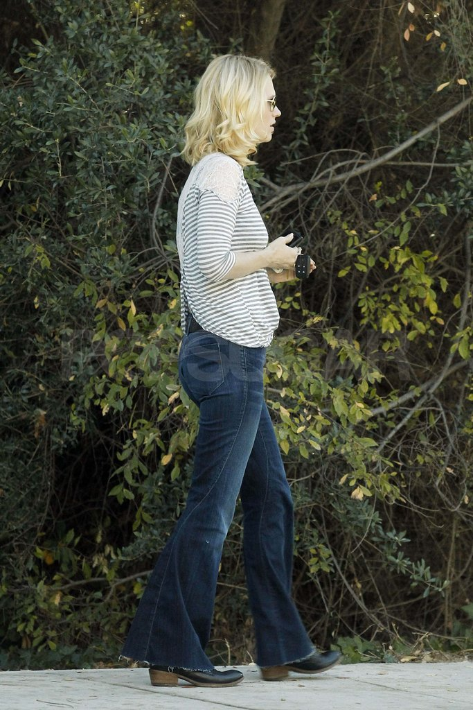January Jones in jeans.