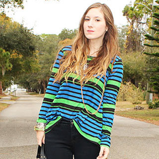 Colorful Stripes Street Style