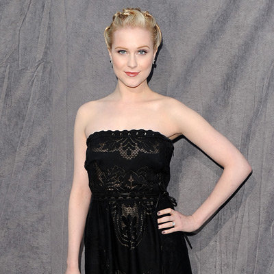 Evan Rachel Wood Black Strapless Valentino Dress Pictures at 2012 Critics' Choice Awards