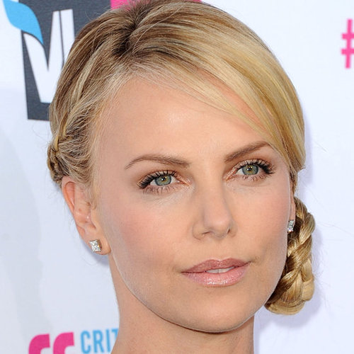 Charlize Theron's Braided Hair at the 2012 Critics' Choice Awards