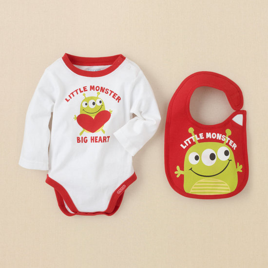 Valentine Bib and Bodysuit Set ($9)