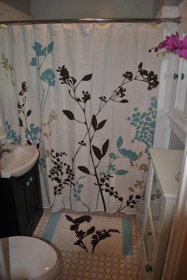 Bathroom makeover, diy floor tile